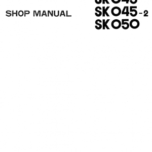 Kobelco SK45 and SK50 Excavator Service Manual