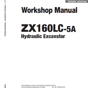 Hitachi Zx160lc-5a And Zx160lc-5b Excavator Service Manual