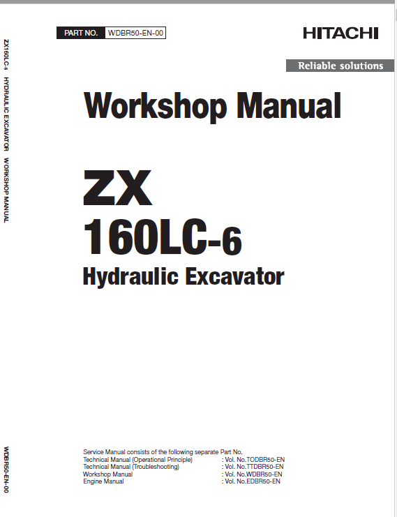 Hitachi Zx160lc-5g And Zx160lc-6 Excavator Service Manual