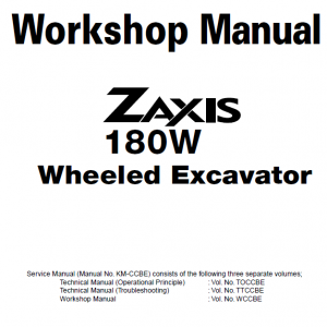 Hitachi Zx180w Wheeled Excavator Service Manual