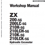 Hitachi ZX200-5G Excavator Service Manual