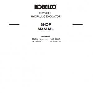 Kobelco Sk25sr-2 Excavator Service Manual