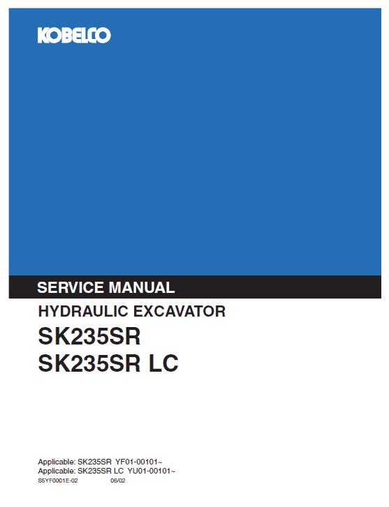 Kobelco Sk235sr And Sk235sr-lc Excavator Service Manual