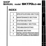 Kobelco Sk170-6e And Sk170lc-6e Excavator Service Manual