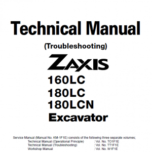Hitachi Zaxis 160lc And Zaxis 180lc Excavator Service Manual