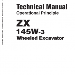 Hitachi Zx145-3 And Zx145-6 Excavator Service Manual