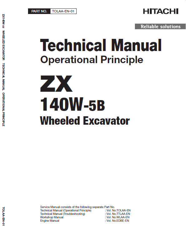 Hitachi ZX140-5B Excavator Service Manual