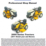 Cub Cadet 2000 Series Service Manual