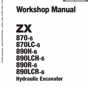Hitachi Zx870-6 And Zx890h-6 Excavator Service Manual