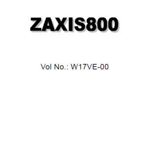 Hitachi Zx800 Zaxis Excavator Service Manual