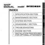 Kobelco Sk80msr, Sk80cs Excavator Service Manual