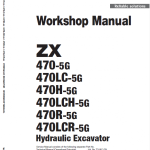 Hitachi Zx470-5g Excavator Service Manual