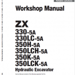 Hitachi Zx330-5a, Zx330lc-5a And Zx350lch-5a Zaxis Excavator Manual