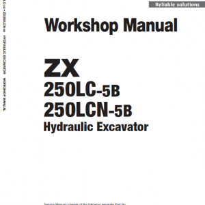 Hitachi Zx250lc-5b And Zx250lcn-5b Zaxis Excavator Manual