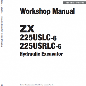 Hitachi Zx225uslc-6 And Zx225usrlc-6 Zaxis Excavator Manual