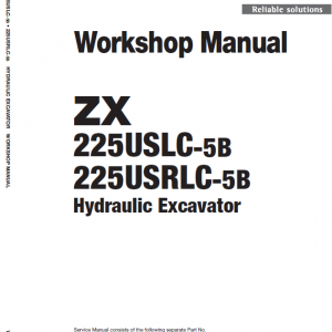 Hitachi Zx225uslc-5b And Zx225usrlc-5b Zaxis Excavator Manual