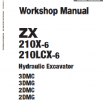 Hitachi ZX210X-6 and ZX210LCX-6 ZAXIS Excavator Manual