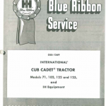 Cub Cadet 71, 102, 122 And 123 Tractor Service Manual