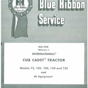 Cub Cadet 72, 104, 105, 124, 125 Service Manual