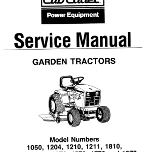 Cub Cadet 2072, 1572, 1772 And 1872 Service Manual