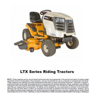 Cub Cadet Ltx Series Tractors Service Manual