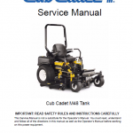 Cub Cadet M48 Tank Mower Service Manual