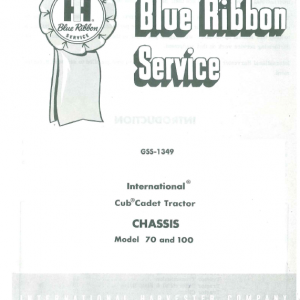 Cub Cadet 70 and 100 Tractor Service Manual