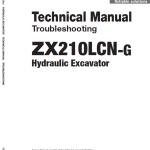 Hitachi Zx210lcn-g Zaxis Excavator Manual