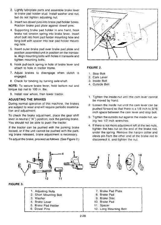 Cub Cadet 805, 1015, 1020, 1105, 1110, 1215 Tractor Service Manual