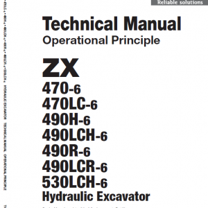 Hitachi Zx470-6, Zx490lch-6 And Zx530lch-6 Excavator Manual