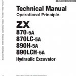 Hitachi Zx870-5a And 890h-5a Excavator Service Manual