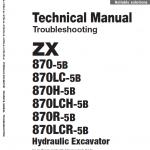 Hitachi Zx870-5b Excavator Service Manual