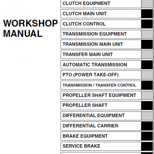 Hino Truck 2015 Conventional Service Manual