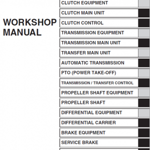 Hino Truck 2016 Conventional Service Manual
