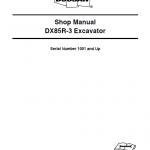 Doosan DX85R-3 Excavator Service Manual