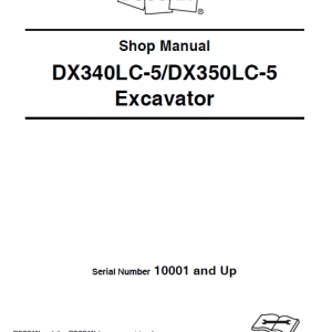 Doosan Dx340lc-5 And Dx350lc-5 Excavator Service Manual