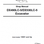 Doosan DX490LC-5 and DX530LC-5 Excavator Service Manual