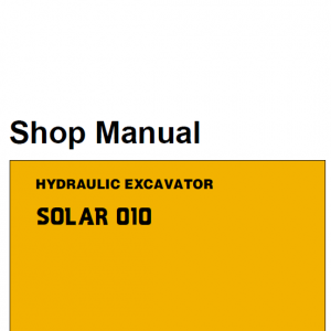 Daewoo Solar S010 Excavator Service Manual