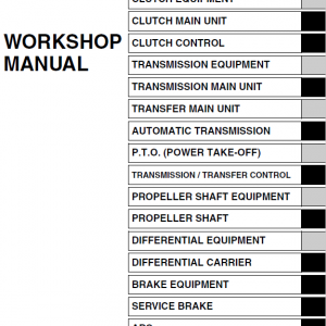Hino Truck 2011, 2012 and 2013 Service Manual