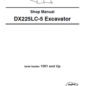 Doosan Dx225lc-3 And Dx255lc-5 Excavator Service Manual