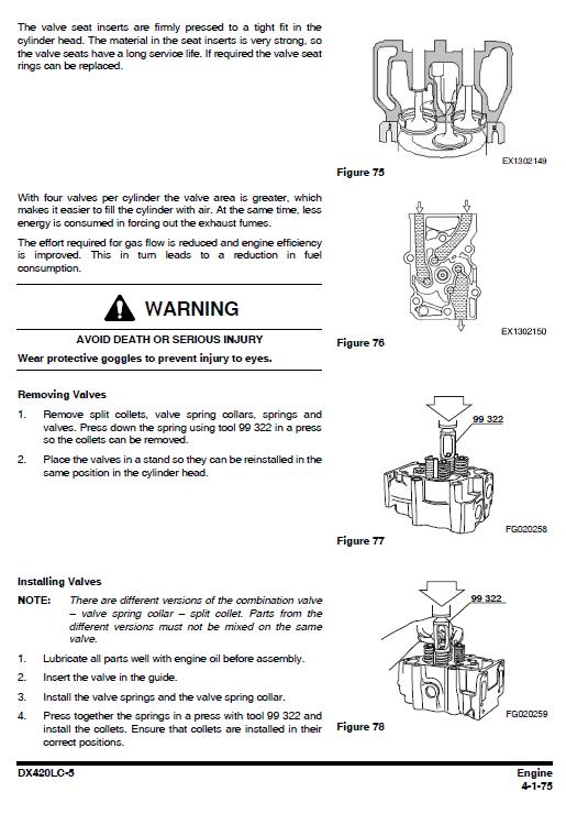 Doosan Dx420lc-5 Excavator Service Manual