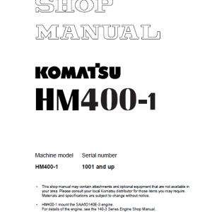 Komatsu Hm400-1 Dump Truck Service Manual