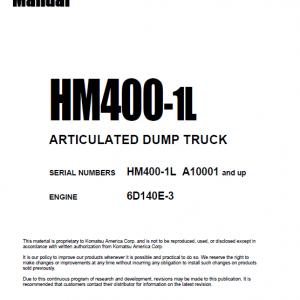 Komatsu Hm400-1l Dump Truck Service Manual