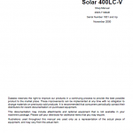 Daewoo Solar S400lc-v Excavator Service Manual