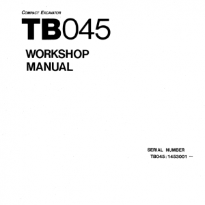 Takeuchi Tb045 Compact Excavator Service Manual