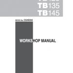 Takeuchi TB125, TB135 and TB145 Excavator Service Manual