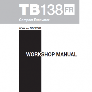 Takeuchi Tb138 Compact Excavator Service Manual