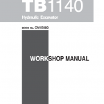 Takeuchi TB1140 Compact Excavator Service Manual