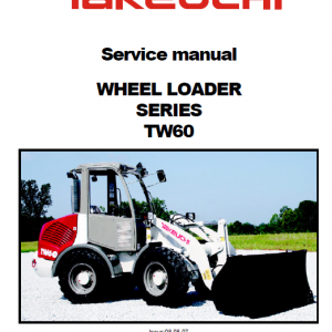 Takeuchi TW60 Wheel Loader Service Manual