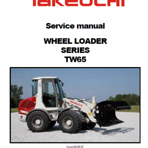 Takeuchi TW65 Wheel Loader Service Manual